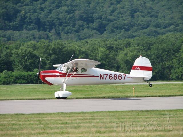 Cessna 140 (N76867) - Landing at the 2009 WRAP Pancake Breakfast Fly-In.