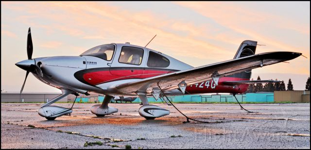 Cirrus SR-22 (N424G) - Parked on the ramp at the Merced Regional Airport