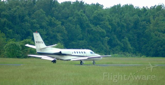 Cessna Citation II (N280TA) - Departing on runway 36