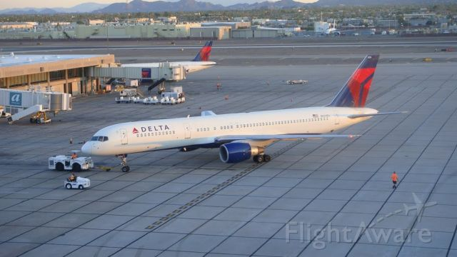 Boeing 757-200 — - Delta 752 pushing back for a flight to Atlanta KATL.