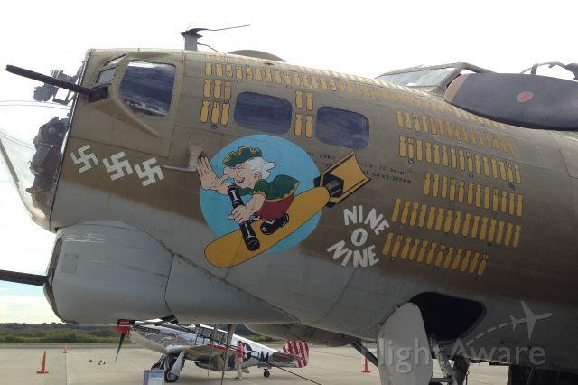 Boeing B-17 Flying Fortress (SAI93012) - Collins Foundation B-17 Nine O Nine at Charleston Executive Airport on 31 Oct 15.