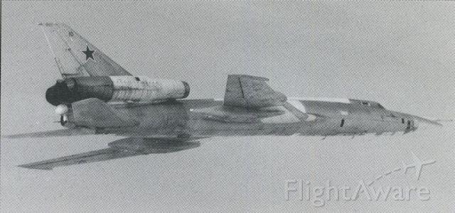Tupolev Tu-22 (010) - scanned from postcard