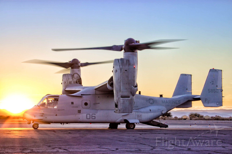 Bell V-22 Osprey (16-5850) - MV-22B from VMM-364 preparing to depart on a training flight