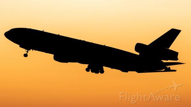McDonnell Douglas DC-10 (T264) - DC-10 converted to KDC-10 departs DFW.