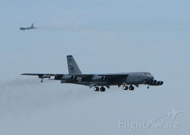 60-0061 — - B-52s doing touch and goes at Barksdale Air Force Base, Louisiana. 60-0051 is in the distance.