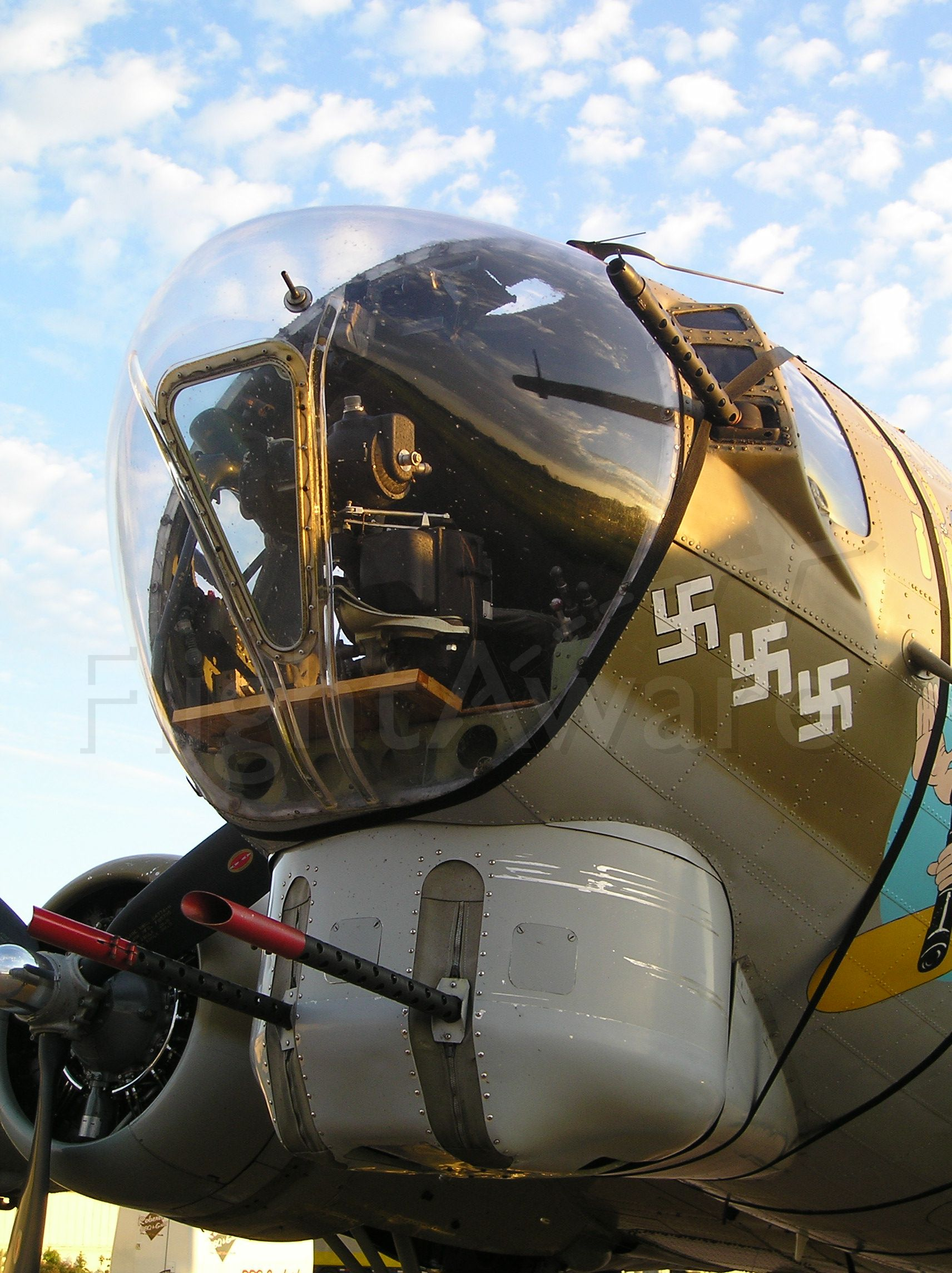 Boeing B-17 Flying Fortress — - Dawn on the Collings Foundation B-17, 7-12-08