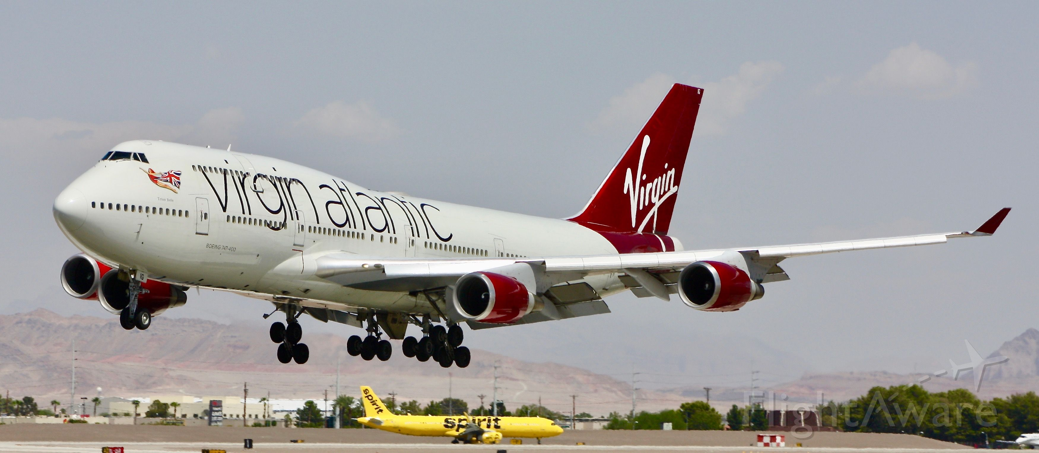 Boeing 747-400 (G-VBIG) - Please change the size to full screen to decrease the blurriness.