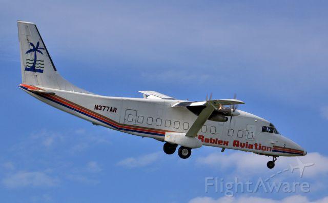 Short SD3-60 (N377AR) - Banking over Laguna Gardens on finals to runway 10.