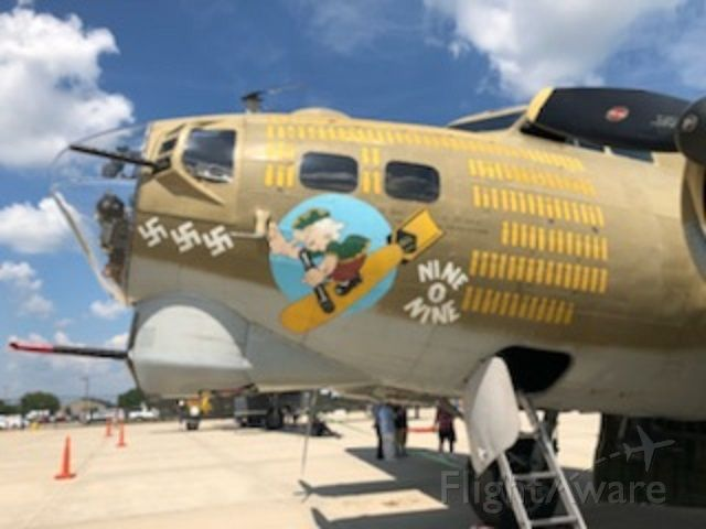 Boeing B-17 Flying Fortress — - B-17 at KSIP. In 2018. Army Air Corps,. A part of history.