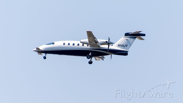 Piaggio P.180 Avanti (N141JT) - KAUS 10/11/15 from Hornsby Bend Treatment Plant