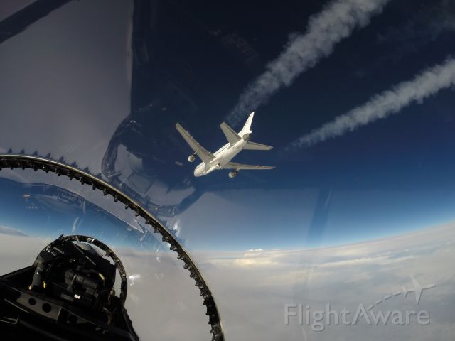 Lockheed L-1011 TriStar (N140SC) - NASA's F-18 support aircraft was used to provide live coverage of the Orbital ATK L-1011 air-launch of its Pegasus XL rocket carrying CYGNSS. This photo was taken by Armstrong videographer, Lori Losey, as the AFRC F-18 chased Orbital's L-1011 carrier aircraft. Image Credit: NASA/Lori Losey