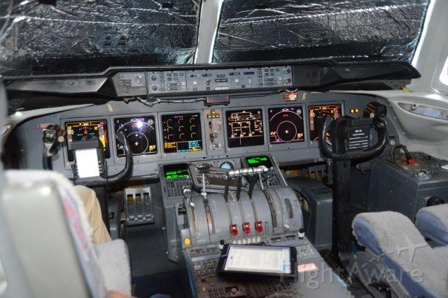 McDonnell Douglas DC-10 (N330AU) - Cockpit of Orbis aircraft at DCA.