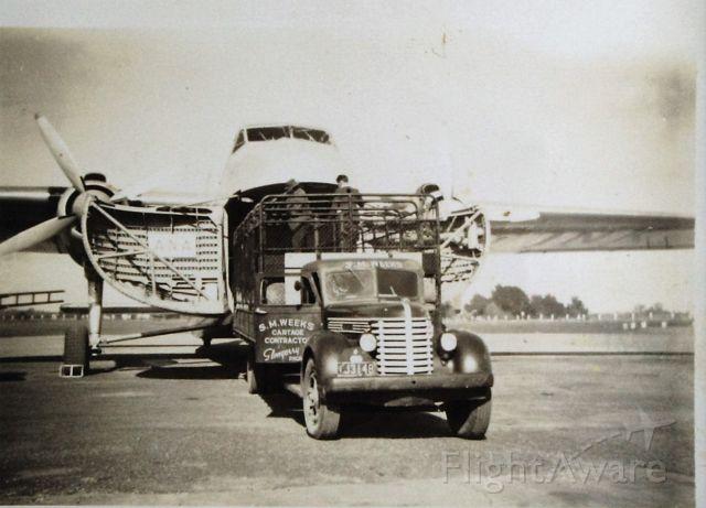 VH-INK — - ANA Bristol freighter at Flinders Island , circa 1958