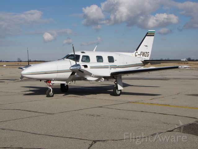 Piper Navajo (C-FWZG) - PA-31P , C-FWZG, previously US registered N200PN - was featured in Sept 1995 Plane & Pilot. Imported into Canada Sept 2008  Engine 425HP TIGO-541, geared 6 CYL