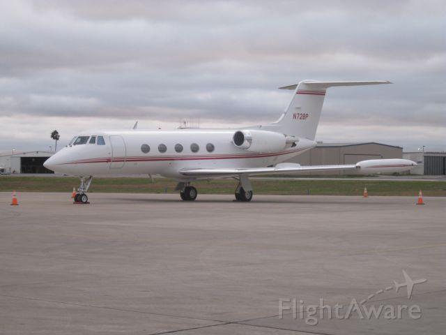 GROB Tutor (N72BP) - McCreery Aviation, McAllen, TX, taken Jan 15, 2010 at 1749.