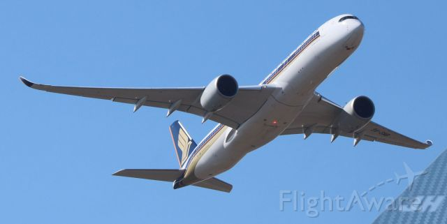 Airbus A350-900 (9V-SMB) - Airbus A350XWB Returning home to Singapore on it first commercial flight into SA