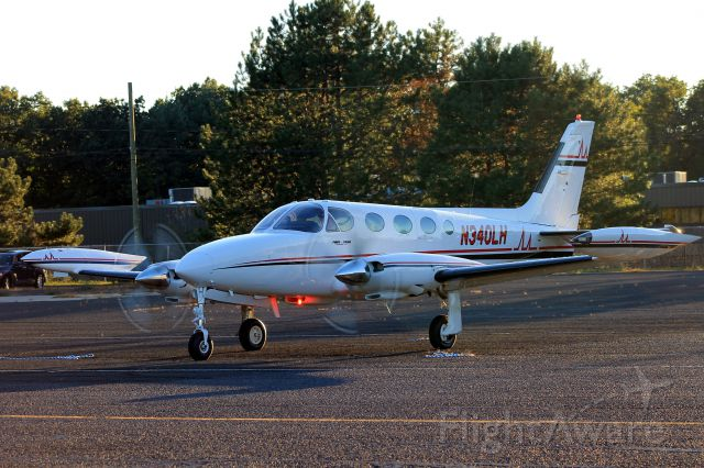 Cessna 340 (N340LH) - Just after parking at transient