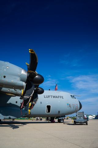 AIRBUS A-400M Atlas (GAF5406) - Luftwaffe Airbus A400M on display at Airventure 2021