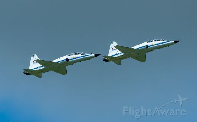 Northrop T-38 Talon (N908NA) - NASA908 and Dash 2 (NASA903) in formation training for a UAE Astronaut, over EFD on 6 July 2021.