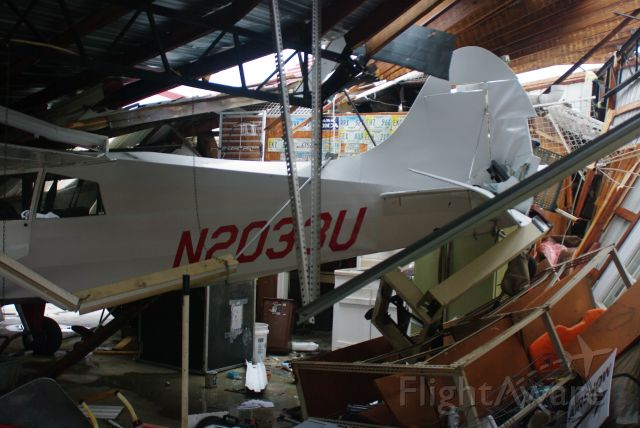 MAULE M-4 Rocket (N2033U) - M4-220C totaled by F2 Tornado 12/9/2008, along w/hangar.