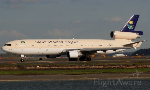 Boeing MD-11 (HZ-HM7) - Saudi Arabian MD11 operating a VIP/Royal flight out of BOS on 5/19/08.