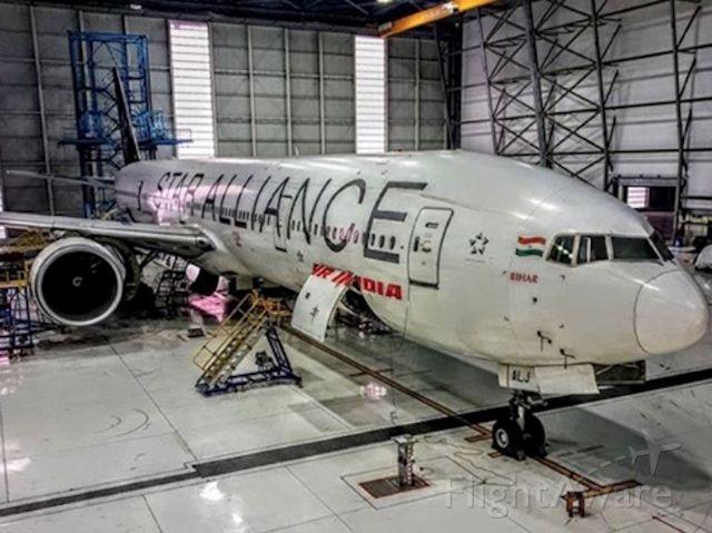 BOEING 777-300ER (VT-ALJ) - AI easily rests in hanger!