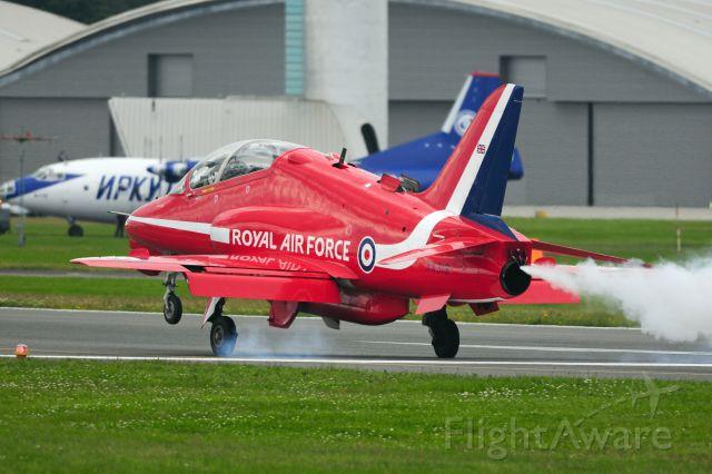 Boeing Goshawk (XX319) - 2012 Farnborough Airshow, Red Arrows Landing sequence,br /Open RAT(Ram Air Turbine) door