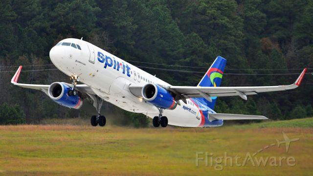 Airbus A320 (N637NK) - Spirit Airlines Airbus A320 (N637NK) departs KRDU Rwy 23R on 10/26/2019 on 4:34 pm.