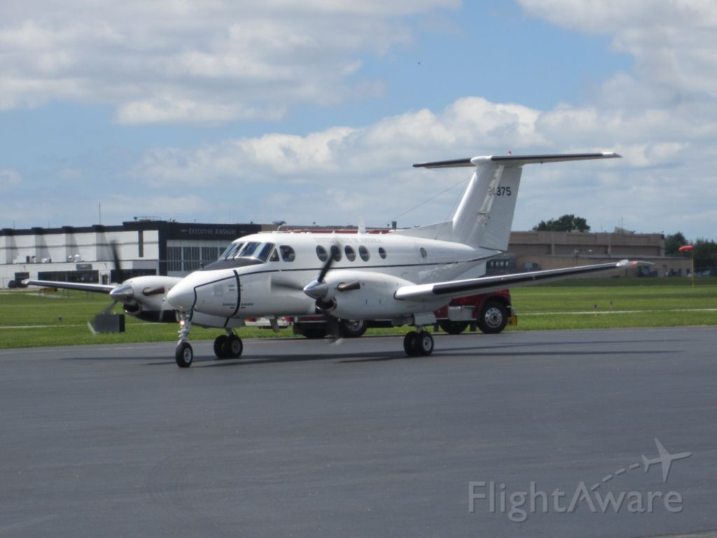 Beechcraft Super King Air 200 (N24375) - USAF C-12 Huron arriving at Buffalo-Niagara Airport 6.13.12