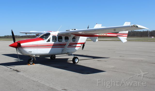 Cessna T337G Pressurized Skymaster (N5KR) - A 1979 Cessna P337H Skymaster on the ramp at Pryor Field Regional Airport, Decatur, AL - March 8, 2017.