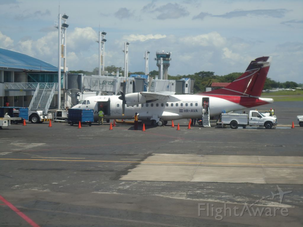 HR-AVA — - Getting ready for flight TA716, Service from Managua to San Salvador.
