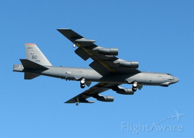 Boeing B-52 Stratofortress (60-0045) - Touch and go off Rwy 15 at Barksdale Air Force Base. Old bird has a few wrinkles in her skin!