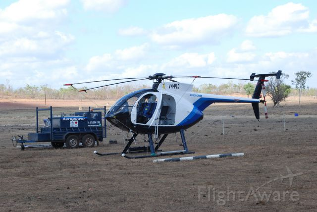 MD Helicopters MD 500 (VH-PLD) - Parked near the Office at Mt Bundy Station, Adelaide River, NT