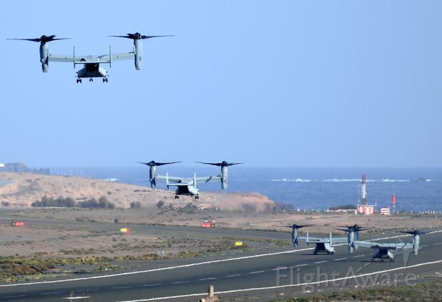Bell V-22 Osprey — - Landing on runway 03R at Gran Canaria airport.