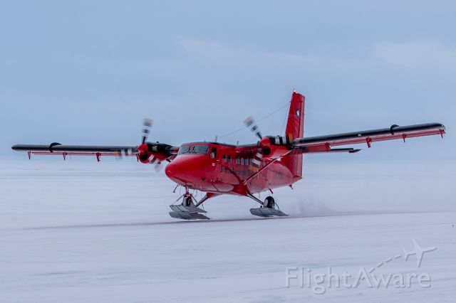 De Havilland Canada Twin Otter (VP-FBB) - VP-FBB Taking off from Fossil Bluff Skiway.