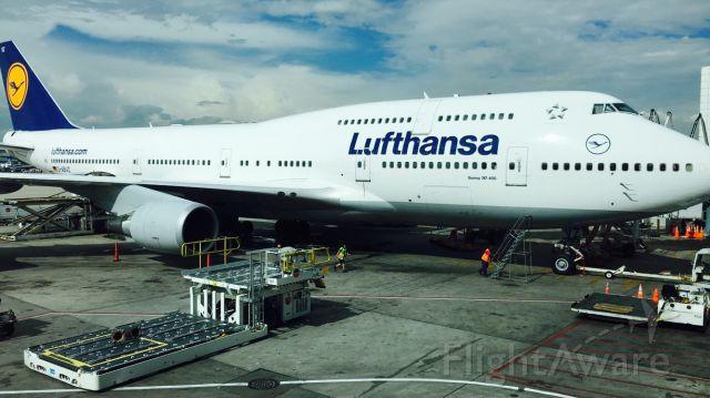 Boeing 747-400 (D-ABVZ) - Lufthansa flight 447 ready to go back to Frankfurt