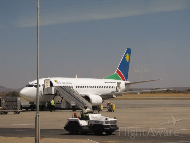 """Boeing 737-700 (V5-TNP) - With 14,869 feet Windhoek International Airport has one of the longest runways because of its """"hot & high"""" situation.  Air Namibia has no longer any Boeing 737s."""