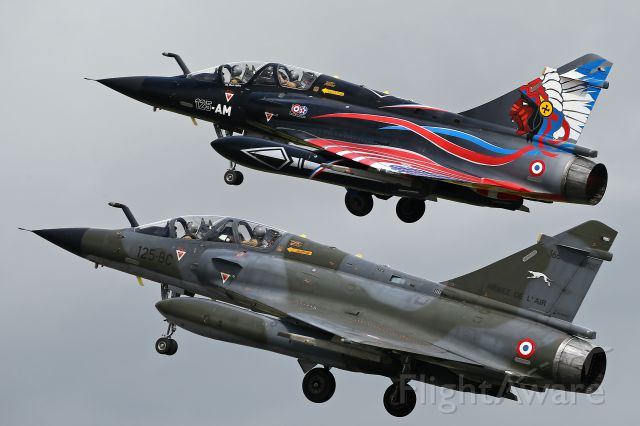 — — - Paired take-off of Mirage 2000, French AF at RAF Fairford.