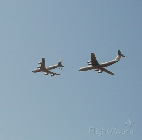 — — - KC-135 and a C-141 after hooking up on Tinder....