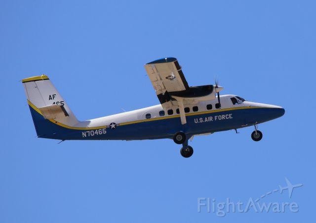 De Havilland Canada Twin Otter (N70465) - de Havilland Canada UV-18B, N70465, DHC6, used by USAF Skydiving Team, Wings of Blue, at Thunder & Lightning Over Arizona at Davis Monthan AFB, 12 Mar 16.