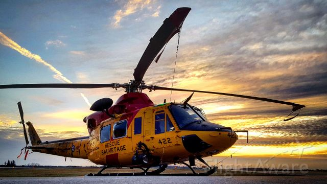 Bell 412 (14-6422) - Search and Rescue CH-146 Griffon sporting tiger stripes in honour of 424sqn Trenton.
