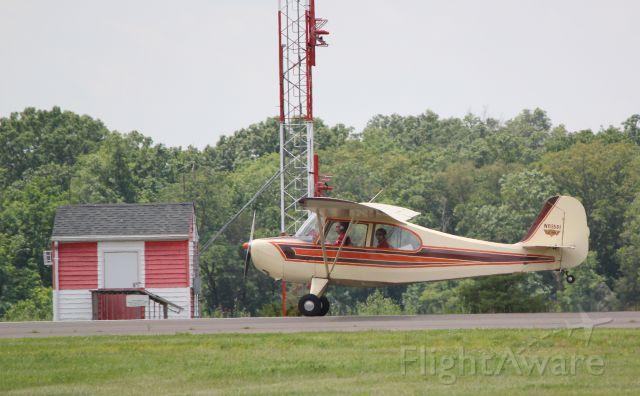 Beechcraft Bonanza (33) (N83851) - Nice wheel landing in a great looking Champ