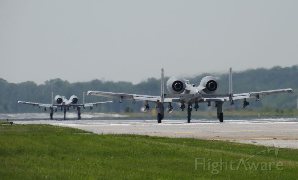 Fairchild-Republic Thunderbolt 2 — - A10 Warthogs lined up on the runway together!