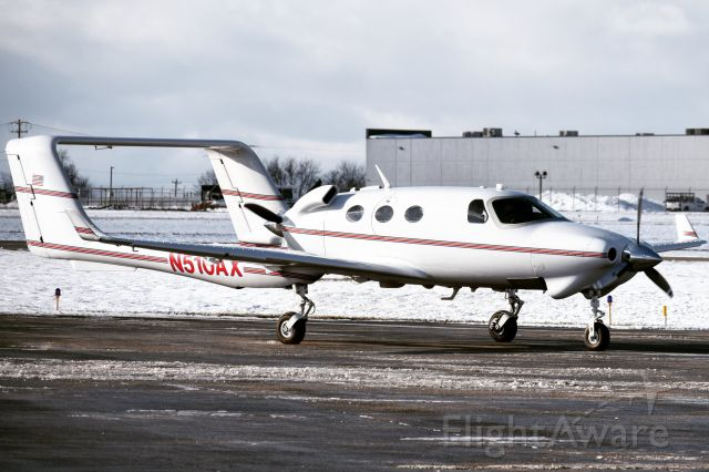 Adam A-500 (N510AX) - Privately owned Adam Aircraft Industries A500 arriving into Buffalo from State College (UNV)... This aircraft is one of five currently flying in the world, with only 7 airframes ever built after AAI filed for bankruptcy in February of 2008...