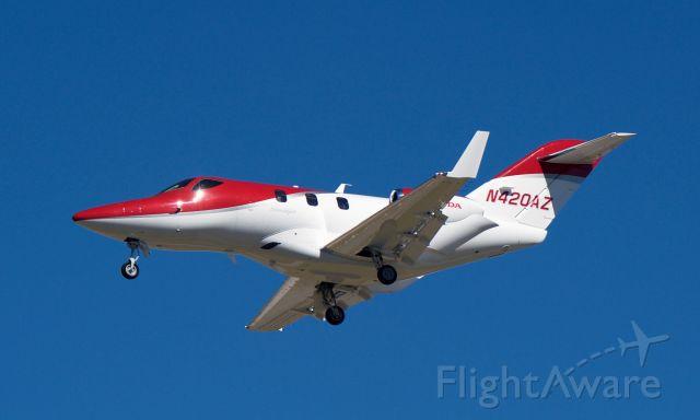 N420AZ — - Landing 30L KHOU