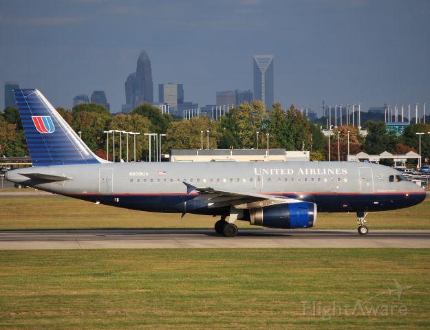 Airbus A319 (N838UA) - Rolling 18C - 10/24/10