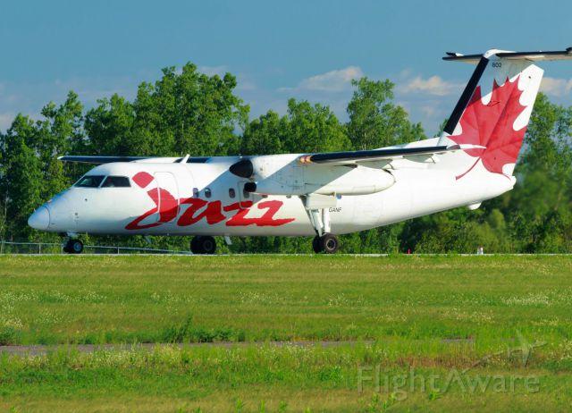 de Havilland Dash 8-100 (C-GANF) - Leaving for Montreal.