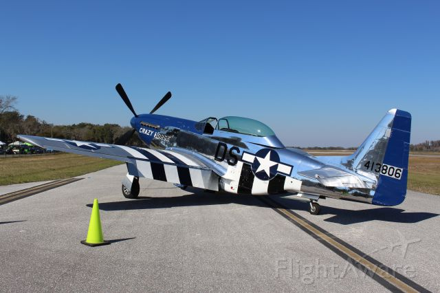 — — - P51D at KLAL for the annual Mustangs and Mustangs event.