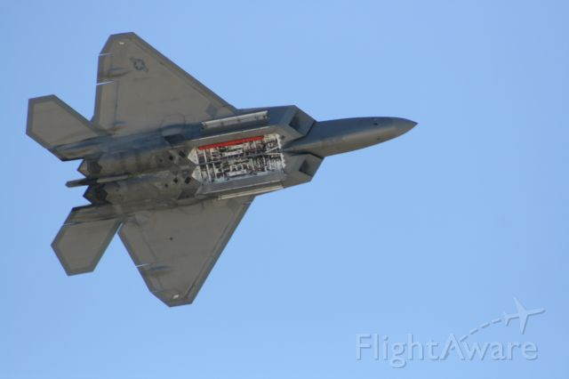 Lockheed F-22 Raptor — - F22 Weapon Bay flash at March ARB show 2010