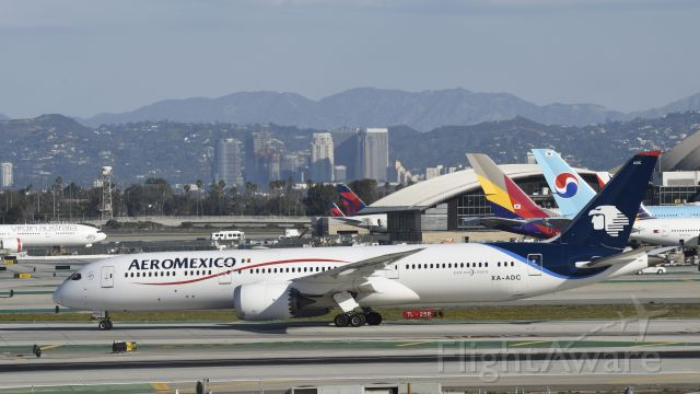 Boeing 787-9 Dreamliner (XA-ADC) - Taxiing to gate at LAX after Landing on 25L